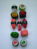 Sushi charms by katraina1812
