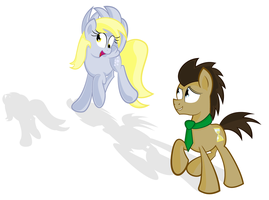 Derpy and The Doctor by BlueySketches