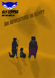 Sly Cooper and the gang in Egypt by Cyndergirlonly