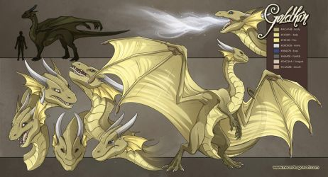 3 of 50: Goldkin Reference She by neondragon