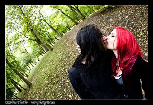 kiss in the woods by CaroFiresoul