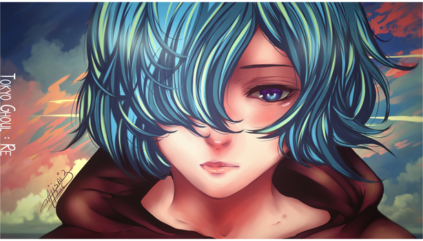 [Coloring] Touka Regl by XxAjisai-GraphicxX