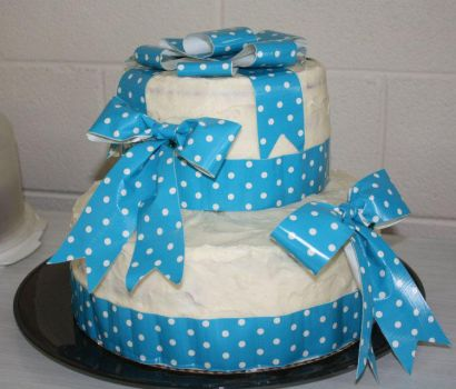 Duct Tape Baby Shower Cake by DuckTapeBandit