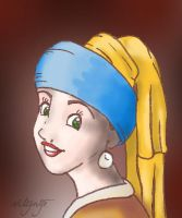 Girl with a Pearl Earring by vilijntje