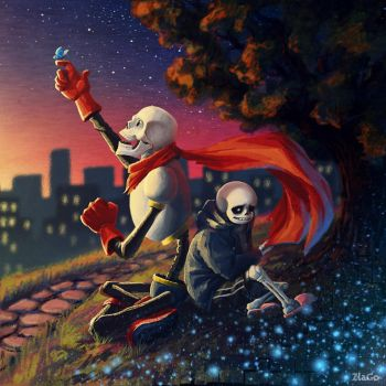 Sans and Papyrus by Zlata666