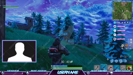 Retro Arcade Fortnite  - Stream Overlay by lol0verlay