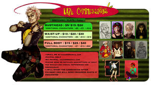 Commission Info Sheet by Kazocks
