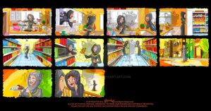 Colored Storyboard by MissChatZ