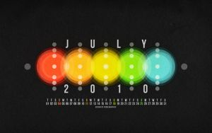 July 2010 Calendar Wallpaper by fudgegraphics