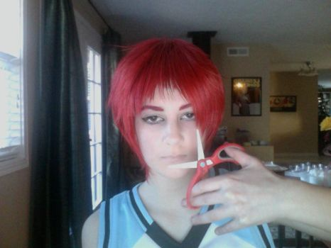 Akashi w/ crappy small red scissors by RandomRaven1234