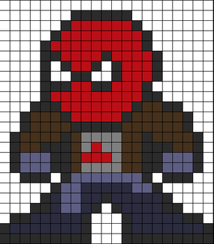 Red Hood perler bead pattern by wasdye3000