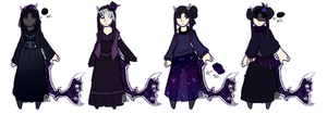 Gift: Deathly outfits by BluejayBae