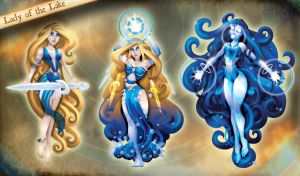 Merlin's Rage Lady of the Lake Evolution by RockyDavies