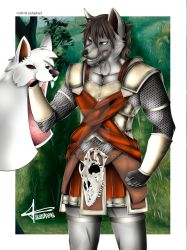 Commission RedCharge - Wolf Man by zahpkiel