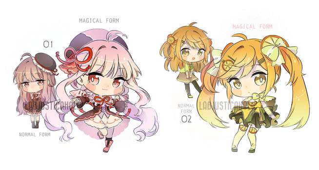 MAGICAL GIRL ADOPTABLES 1 | CLOSED by LabJusticaholic