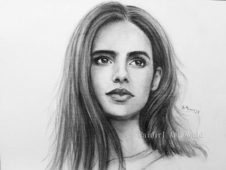 Lily Collins by Painirl