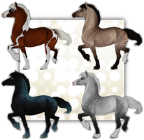 Horse adoptables CLOSED by Wouv