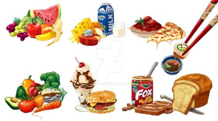 Food Illustrations by J2Dstar