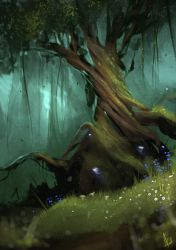 'Twisted Tree' Spitpaint by AaronGriffinArt