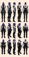 Mass Effect 2, Aria - Model Reference. by Troodon80