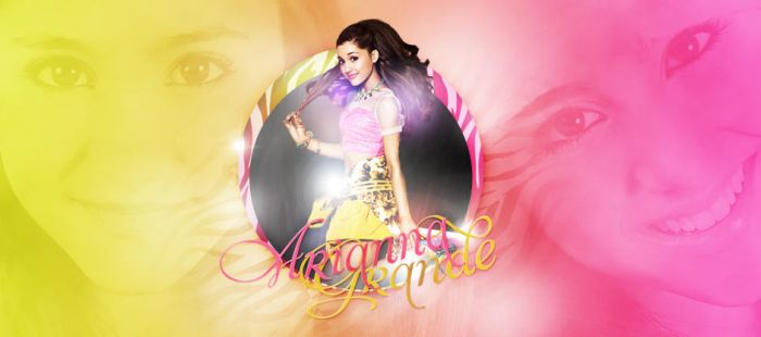 Ariana Grande header by princess-katie90