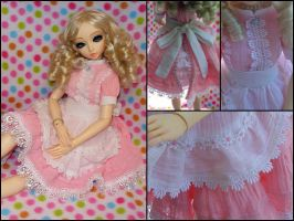 Alice Style Pink Lolita Dress by BazookaBaby