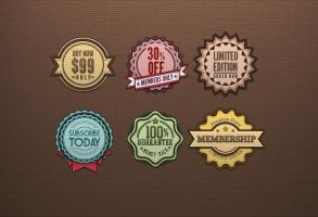 Free Retro Badges Vintage by Pixeden