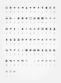 econ - icon font by spiceofdesign