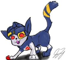 Sideburn Kitty by TaintedTamer