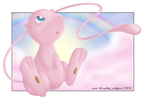 :Rainbow Dreams: Mew by endless-whispers