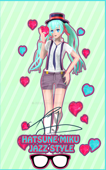 .:J11 Hatsune Miku Jazz Style :. by johnjan11