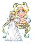 Princess Serenity 8x11 by starlinehodge