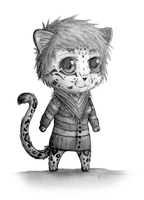 Clouded Leopard Chibi by Kr3ssidia