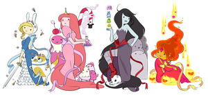 All Girls on Adventure Time! by LuvPopMarcy