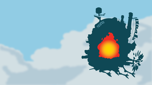 Castle from Howl's Moving Castle | Minimalist by matsumayu