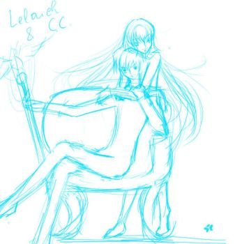Lelouch and C.C by iris-clow