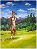 Anthro Dingo Commission by Dreamspirit