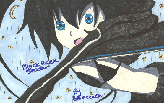 Black Rock Shooter kick ass by quaser-gaara
