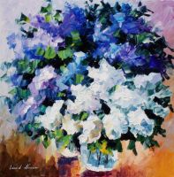 Lovely Lilacs by Leonid Afremov by Leonidafremov