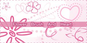 Flower Brush and heart by mana-chaan