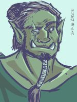 Orc Face by kalkie