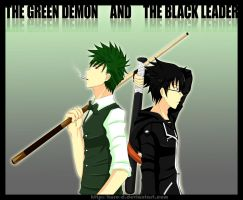 The Green Demon and The Black Leader by Kuro-D