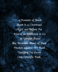 E.G.- Blue Forest filler graphic with poem by Midniteoil-Burning