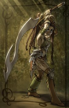 The Elven Warrior by Aphismet