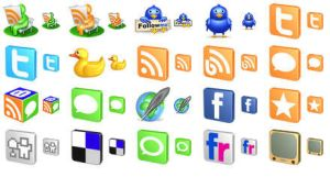 Free 3D Social Icons by Ikont
