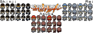 Evangelion Sprites Preview #1 by DanYeomans
