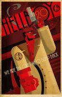 HELLBOY 20 POSTER by Paul Sizer by PaulSizer