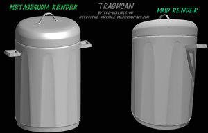 [MMD Accessory] Trash Can + DL by The-Horrible-Mu