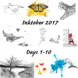 Inktober Days 1-10 by Adlaya