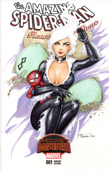 Black Cat Blank Cover by ColletteTurner